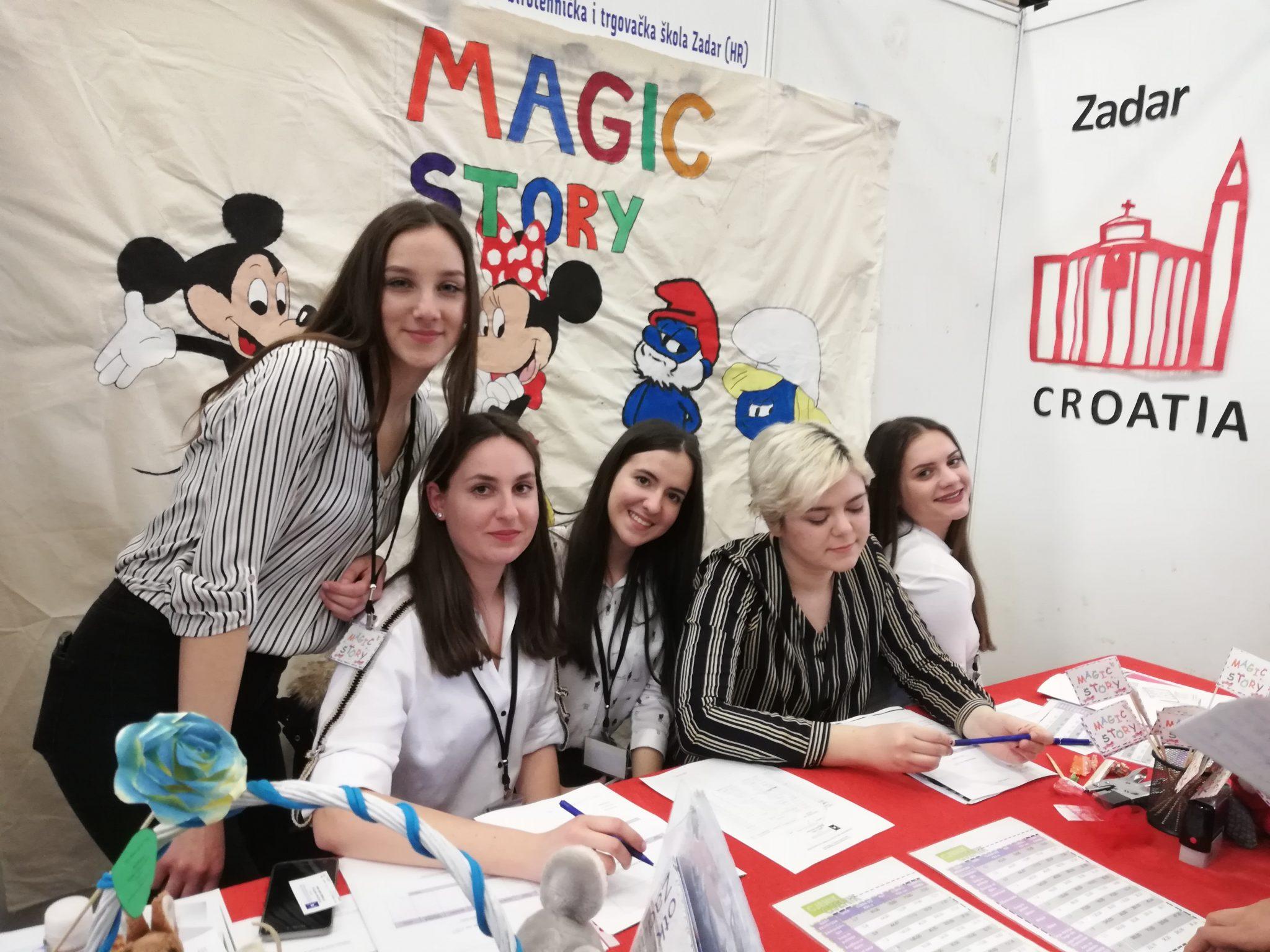 """Vježbenička tvrtka naše škole """" Magic story d.o.o. Zadar"""" sudjelovala na  13. Međunarodnom sajmu Vježbeničkih tvrtki u Celju – Slovenija"""