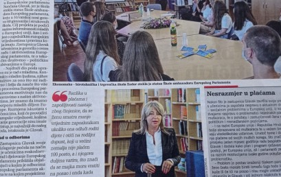 Europarlamentarka Sunčana Glavak posjetila Ekonomsko-birotehničku i trgovačku školu